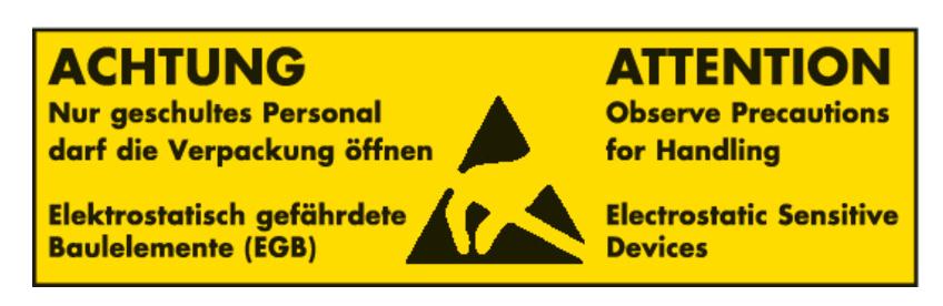Etikett-Antistatisch