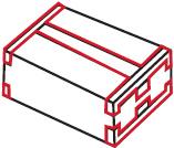 Doppel-T-Verschluss Packband